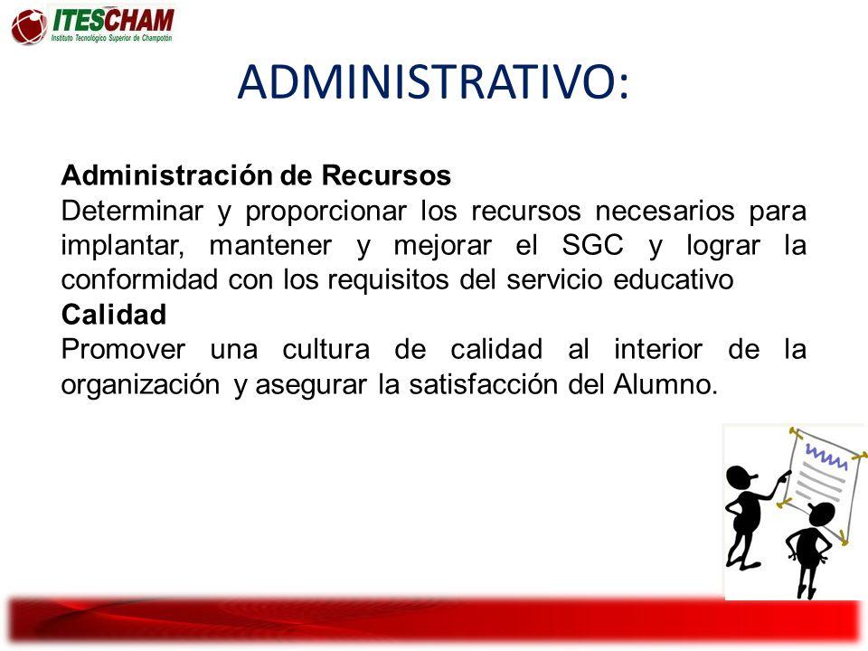 ADMINISTRATIVO: Administración de Recursos