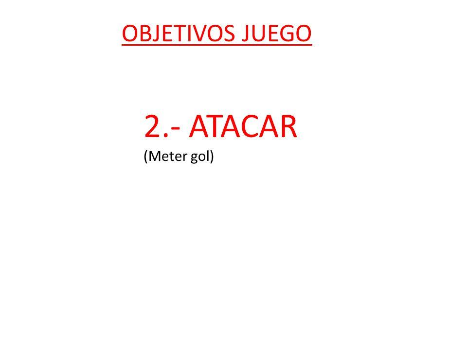 OBJETIVOS JUEGO 2.- ATACAR (Meter gol)