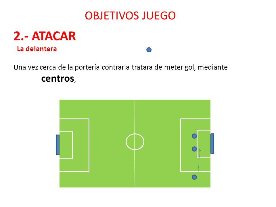 2.- ATACAR OBJETIVOS JUEGO La delantera