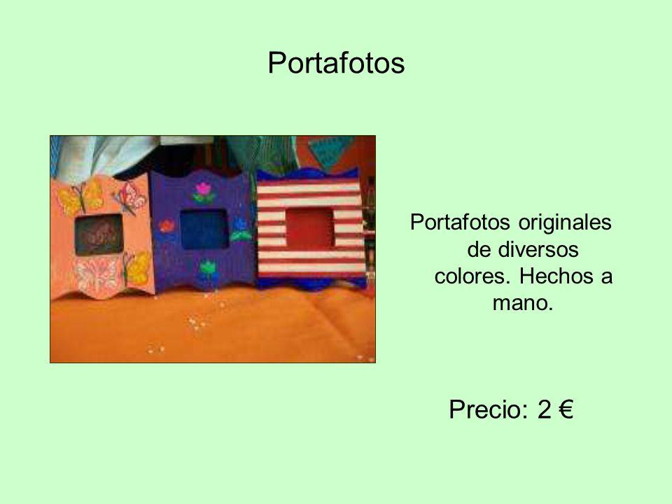 Portafotos originales de diversos colores. Hechos a mano.