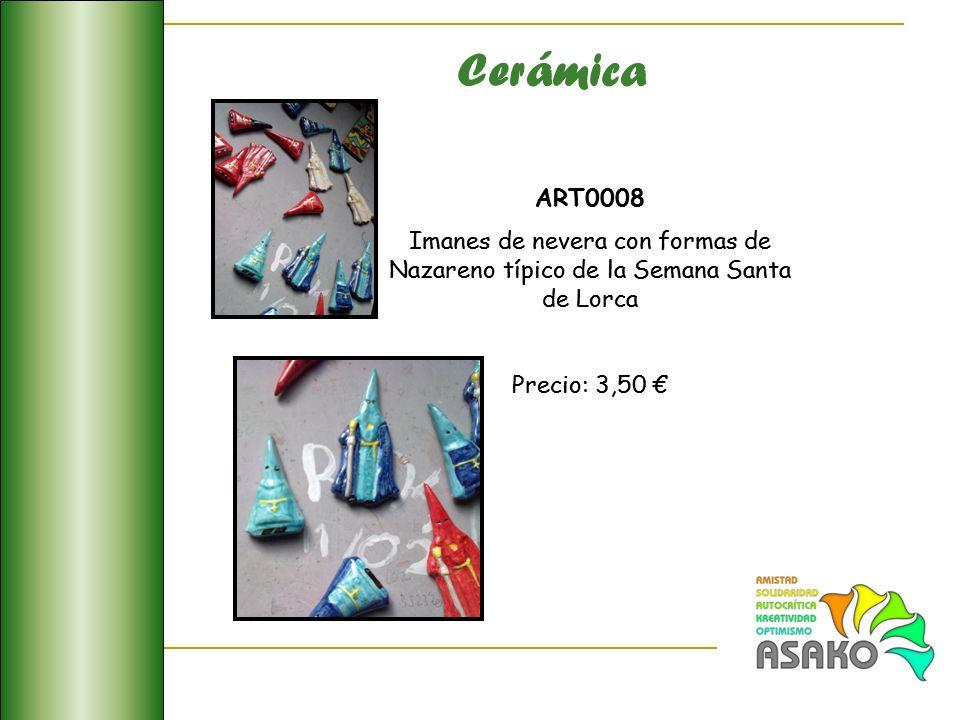 Cerámica ART0008. Imanes de nevera con formas de Nazareno típico de la Semana Santa de Lorca. Precio: 3,50 €