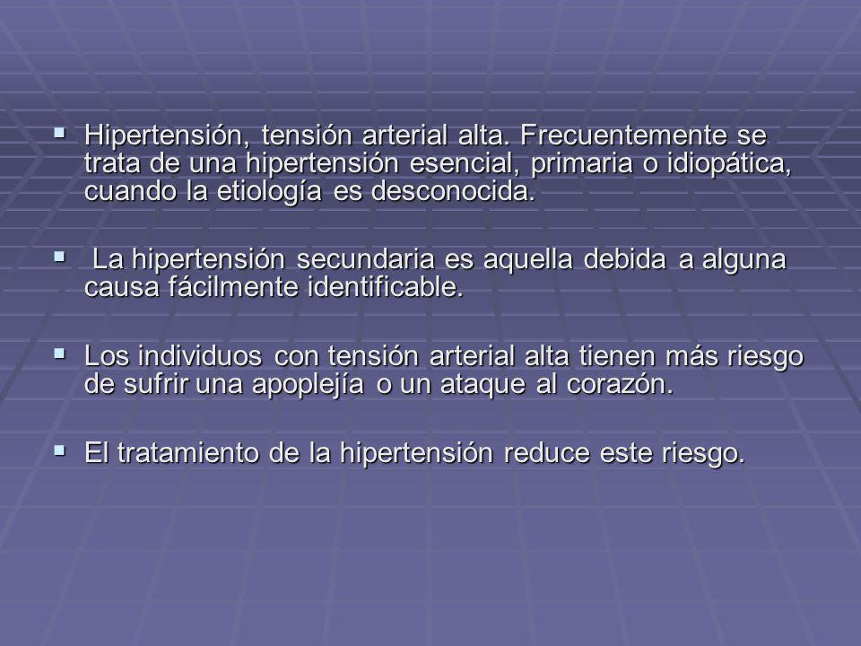 Hipertensión, tensión arterial alta
