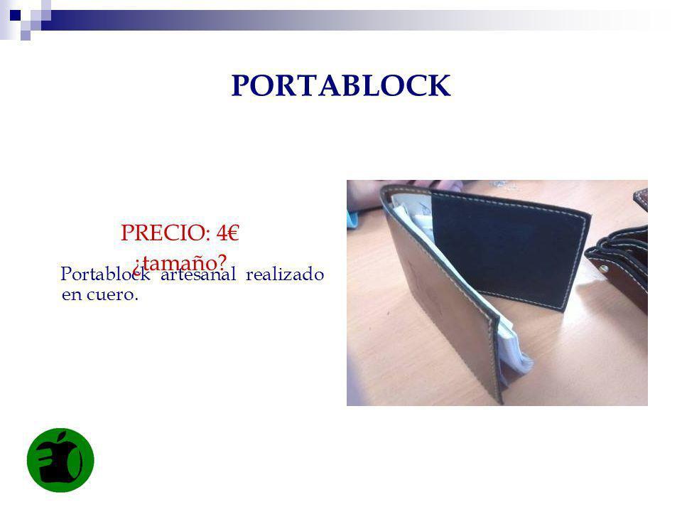 PORTABLOCK PRECIO: 4€ ¿tamaño