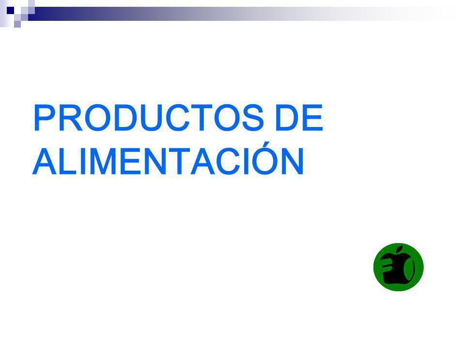 PRODUCTOS DE ALIMENTACIÓN