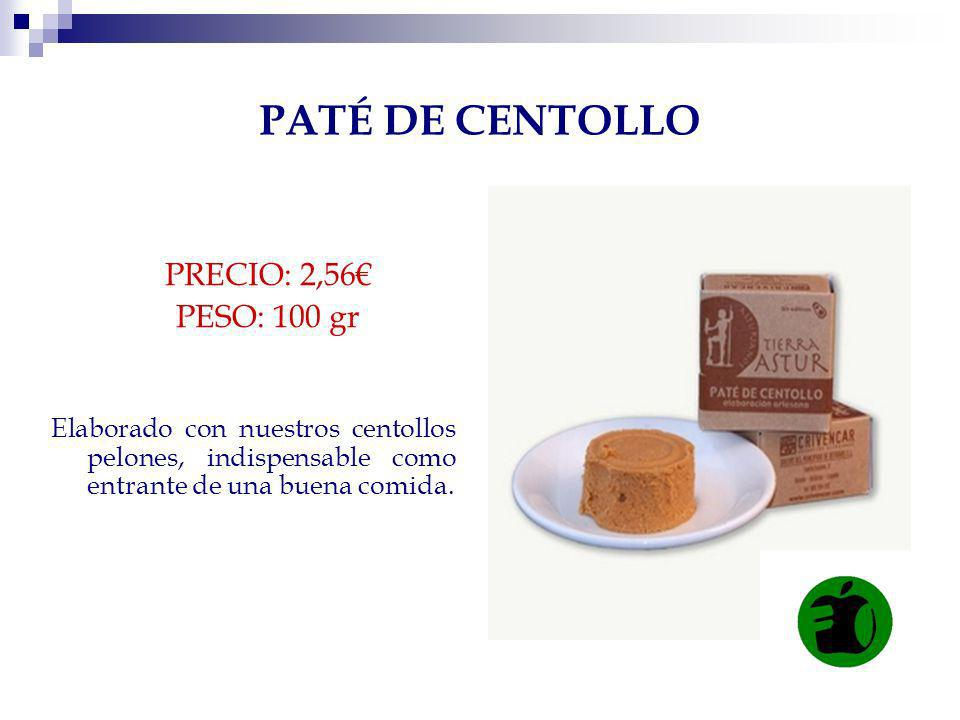 PATÉ DE CENTOLLO PRECIO: 2,56€ PESO: 100 gr