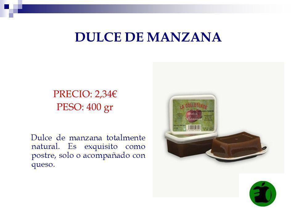DULCE DE MANZANA PRECIO: 2,34€ PESO: 400 gr
