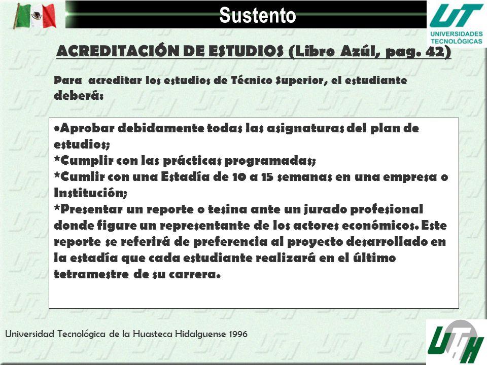 ACREDITACIÓN DE ESTUDIOS (Libro Azúl, pag. 42)