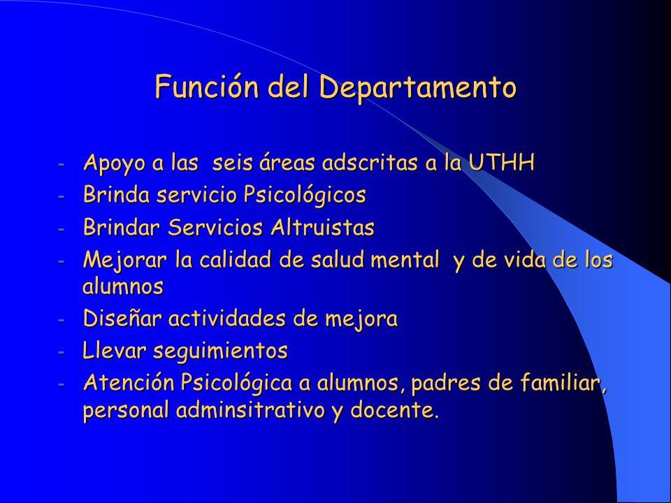 Función del Departamento