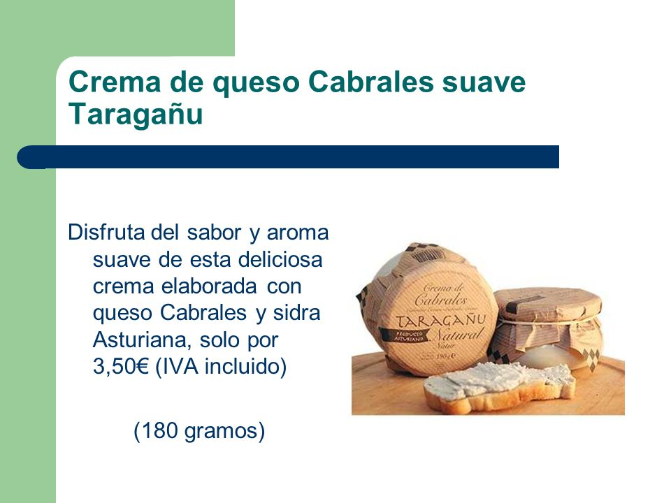 Crema de queso Cabrales suave Taragañu