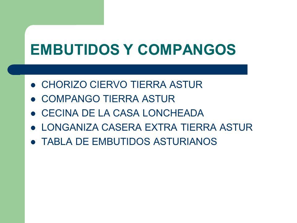 EMBUTIDOS Y COMPANGOS CHORIZO CIERVO TIERRA ASTUR