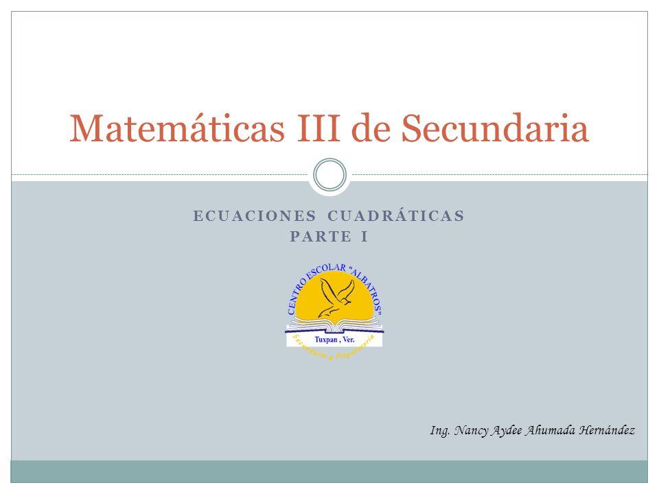 Matemáticas III de Secundaria