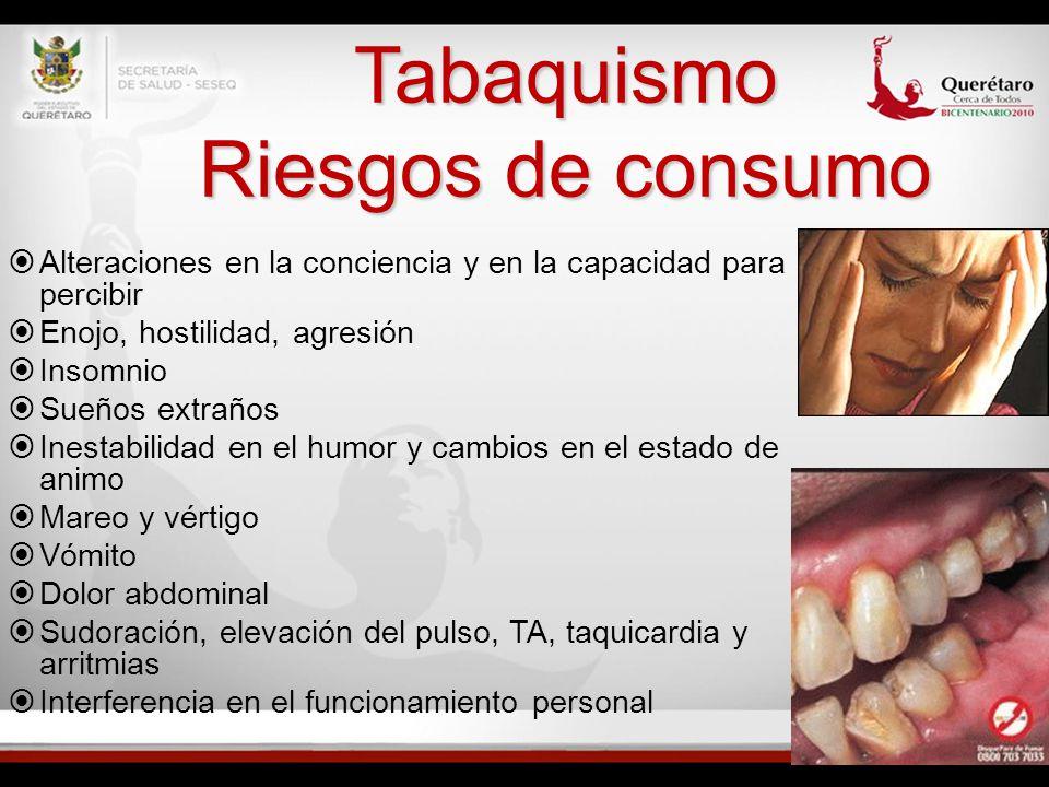 Tabaquismo Riesgos de consumo