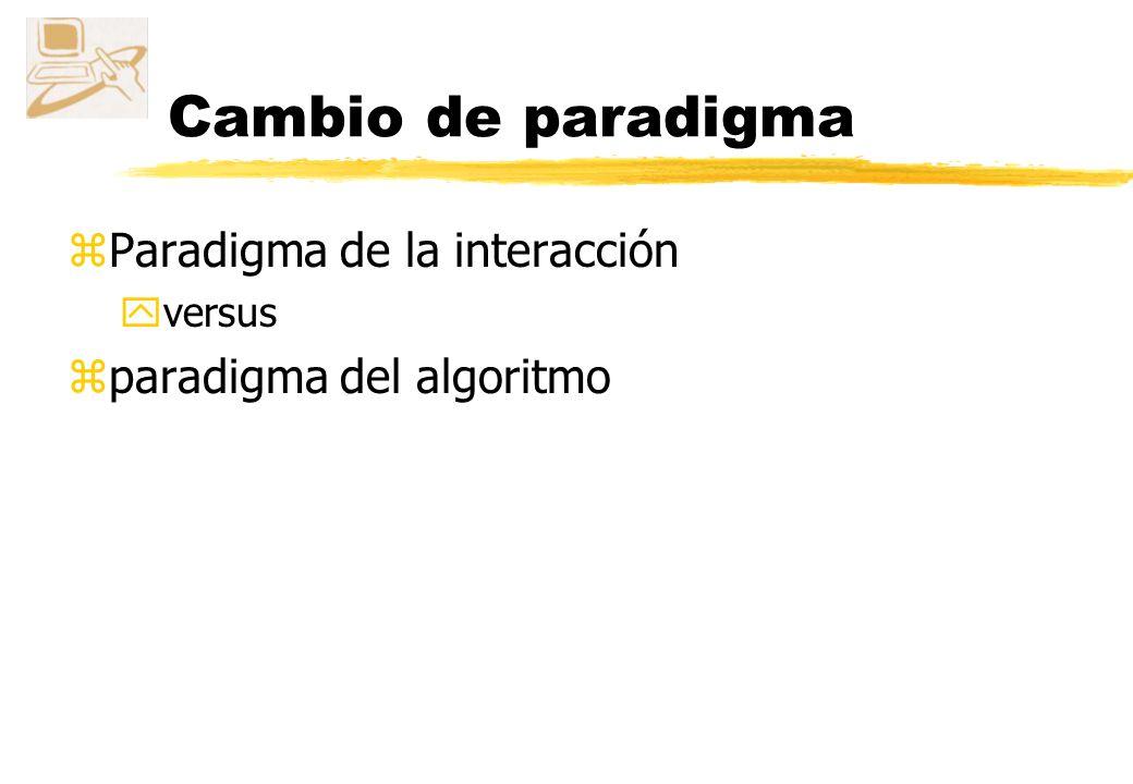 Cambio de paradigma Paradigma de la interacción