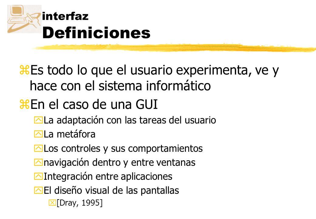 interfaz Definiciones