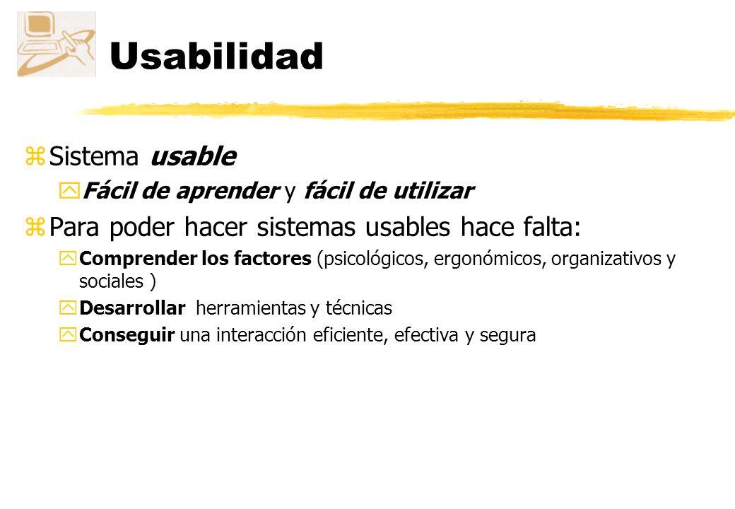 Usabilidad Sistema usable