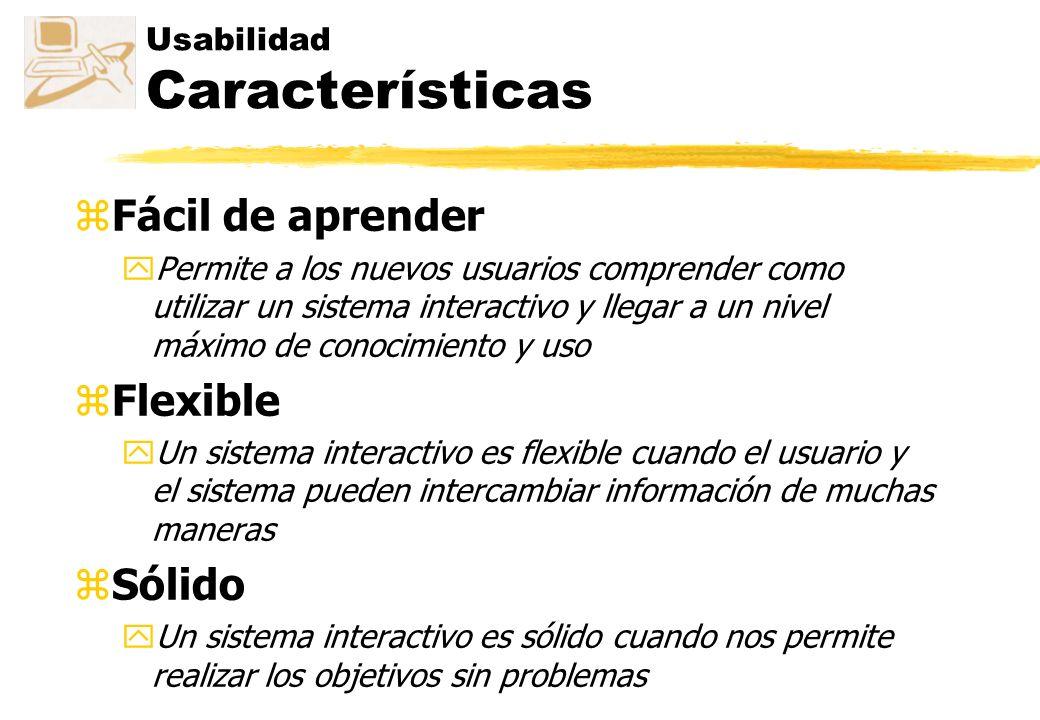 Usabilidad Características