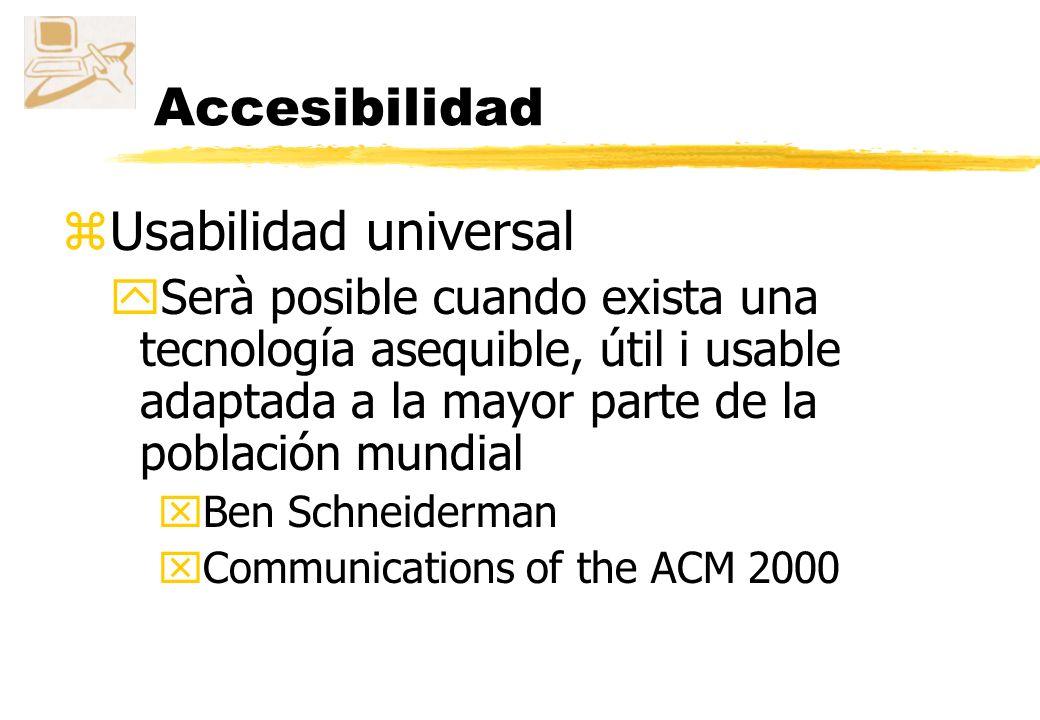 Accesibilidad Usabilidad universal