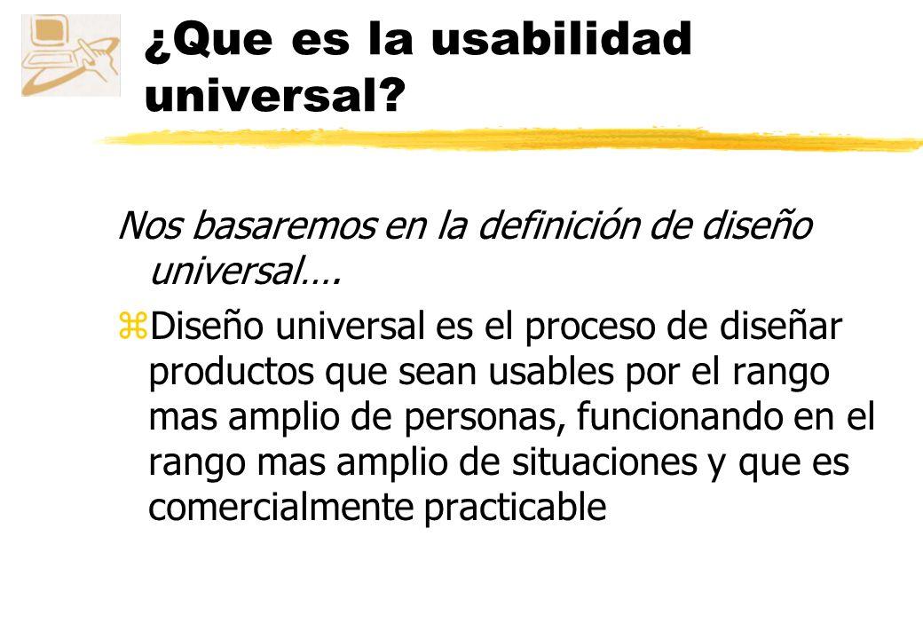 ¿Que es la usabilidad universal