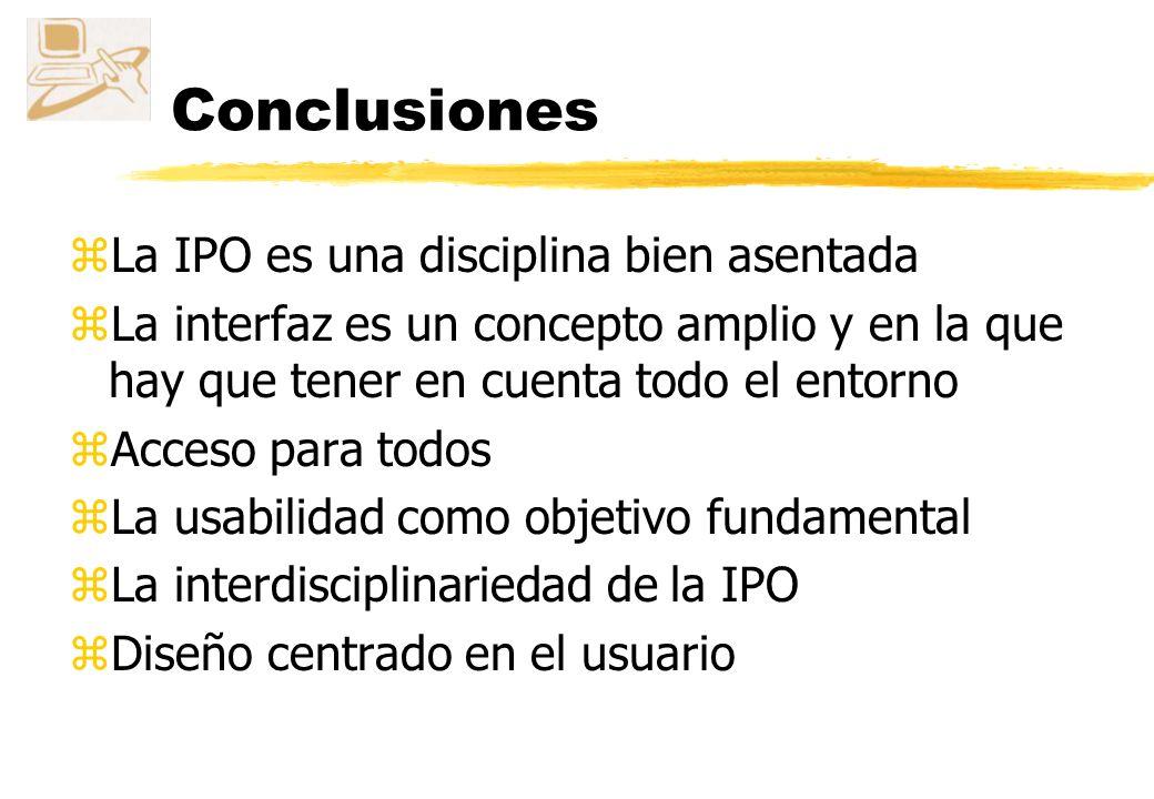 Conclusiones La IPO es una disciplina bien asentada