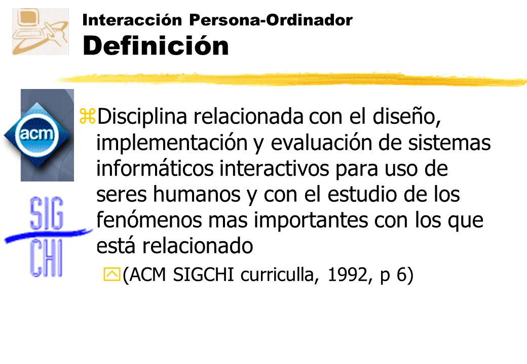 Interacción Persona-Ordinador Definición