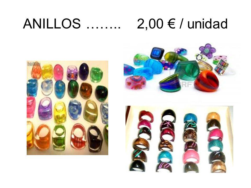 ANILLOS …….. 2,00 € / unidad