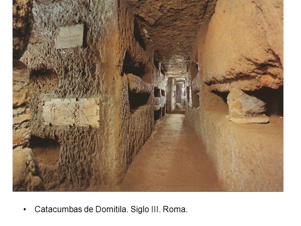 Catacumbas de Domitila. Siglo III. Roma.