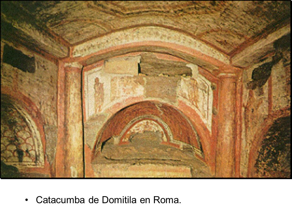 Catacumba de Domitila en Roma.
