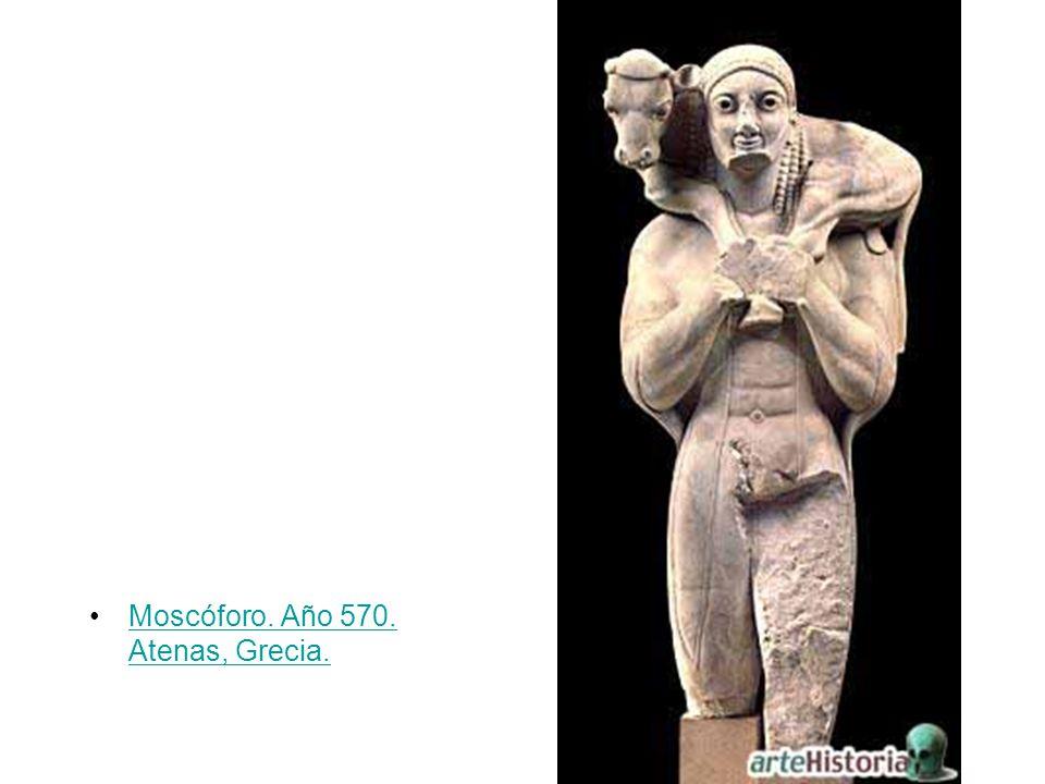 Moscóforo. Año 570. Atenas, Grecia.