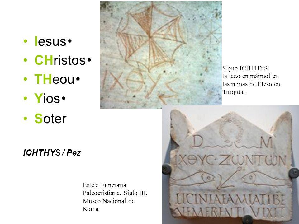 Iesus・ CHristos・ THeou・ Yios・ Soter ICHTHYS / Pez