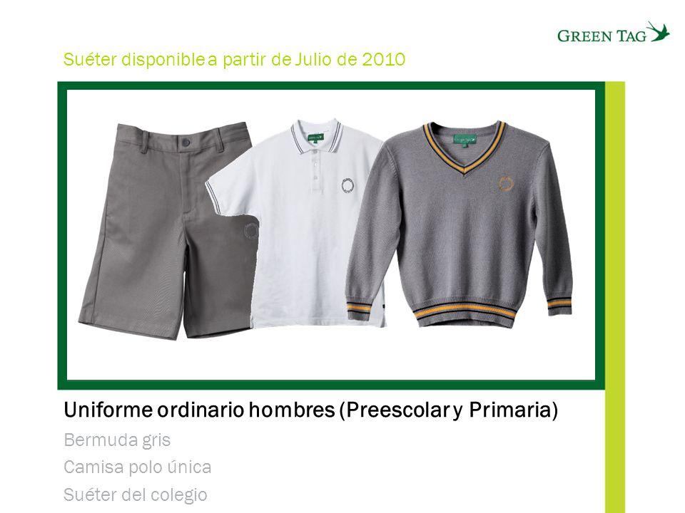 Uniforme ordinario hombres (Preescolar y Primaria)