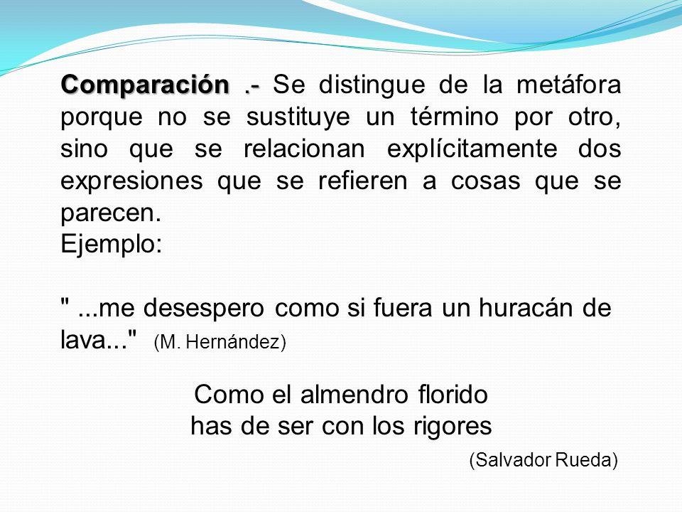 ...me desespero como si fuera un huracán de lava... (M. Hernández)