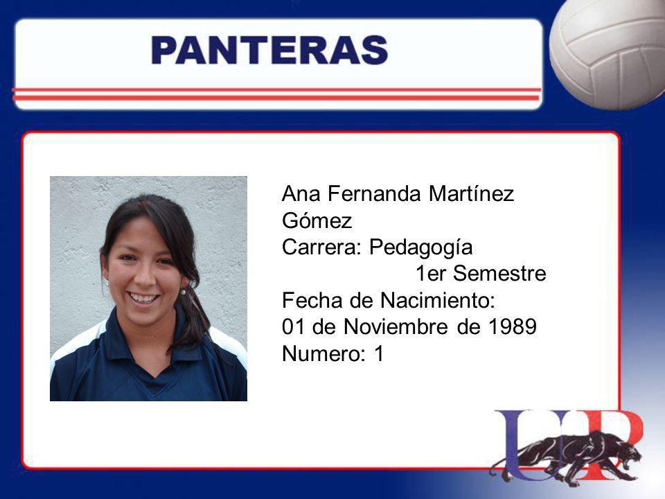 Ana Fernanda Martínez Gómez