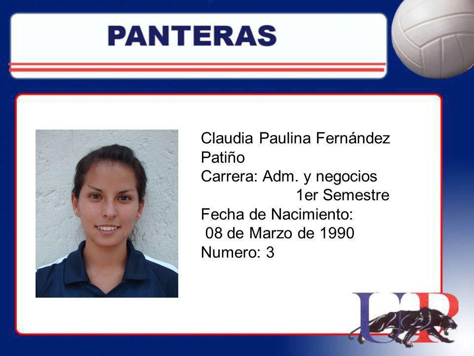 Claudia Paulina Fernández Patiño