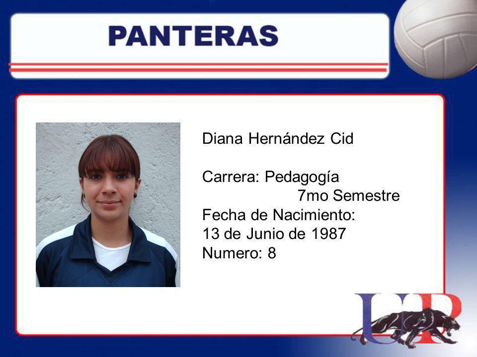 Diana Hernández Cid Carrera: Pedagogía. 7mo Semestre.