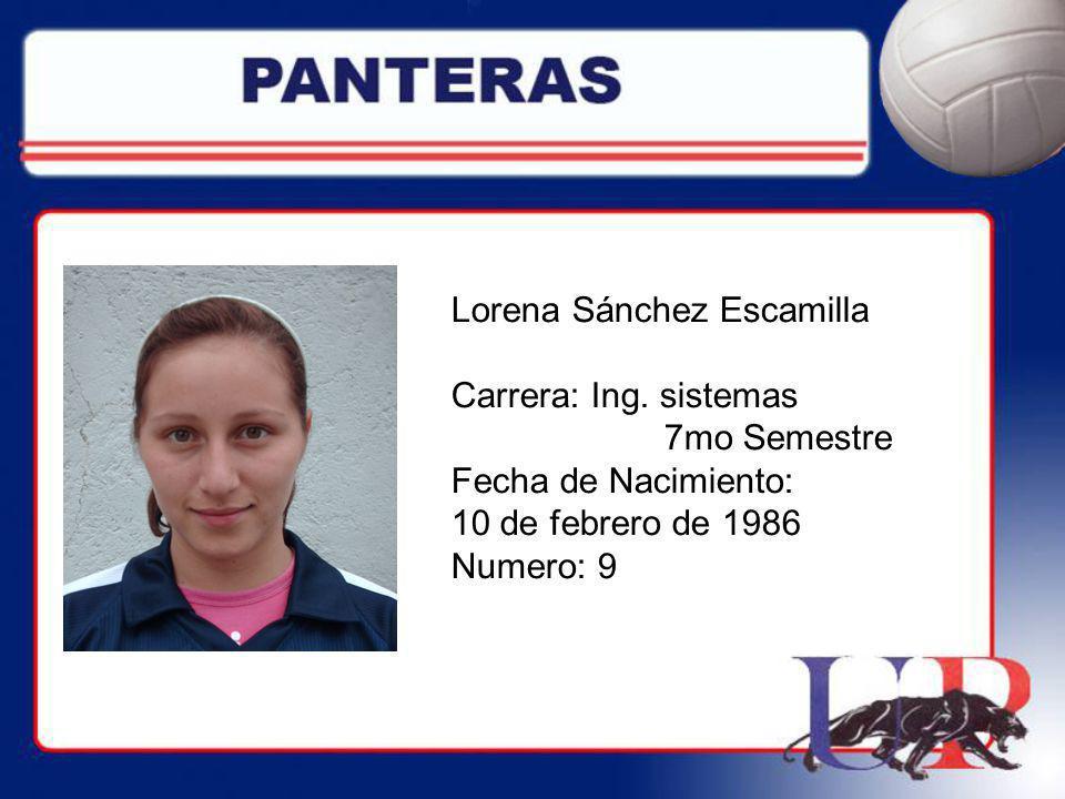 Lorena Sánchez Escamilla