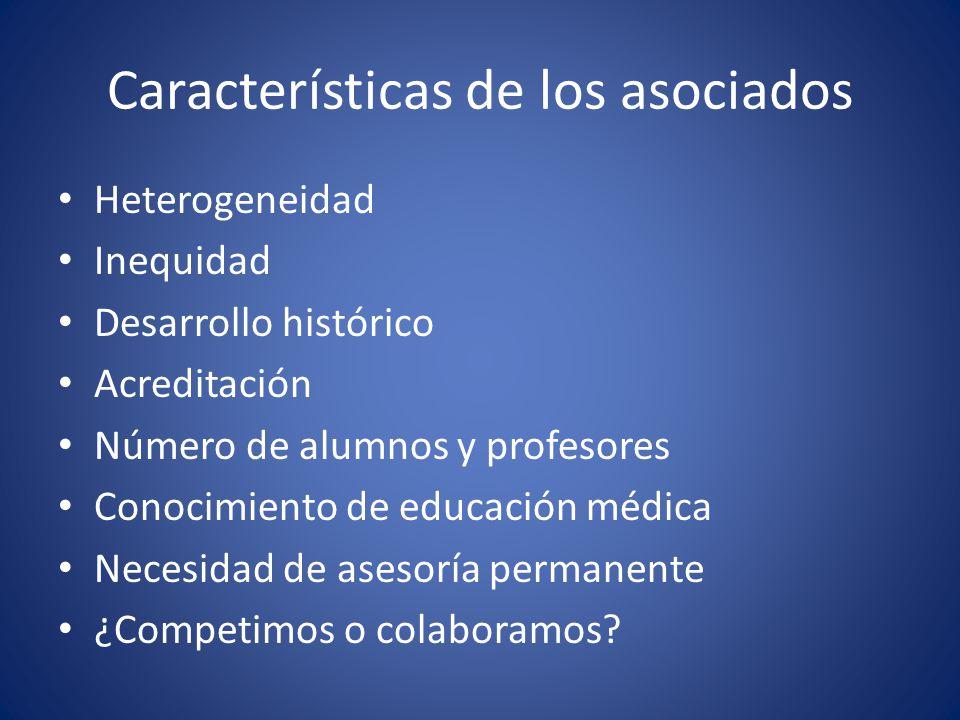 Características de los asociados