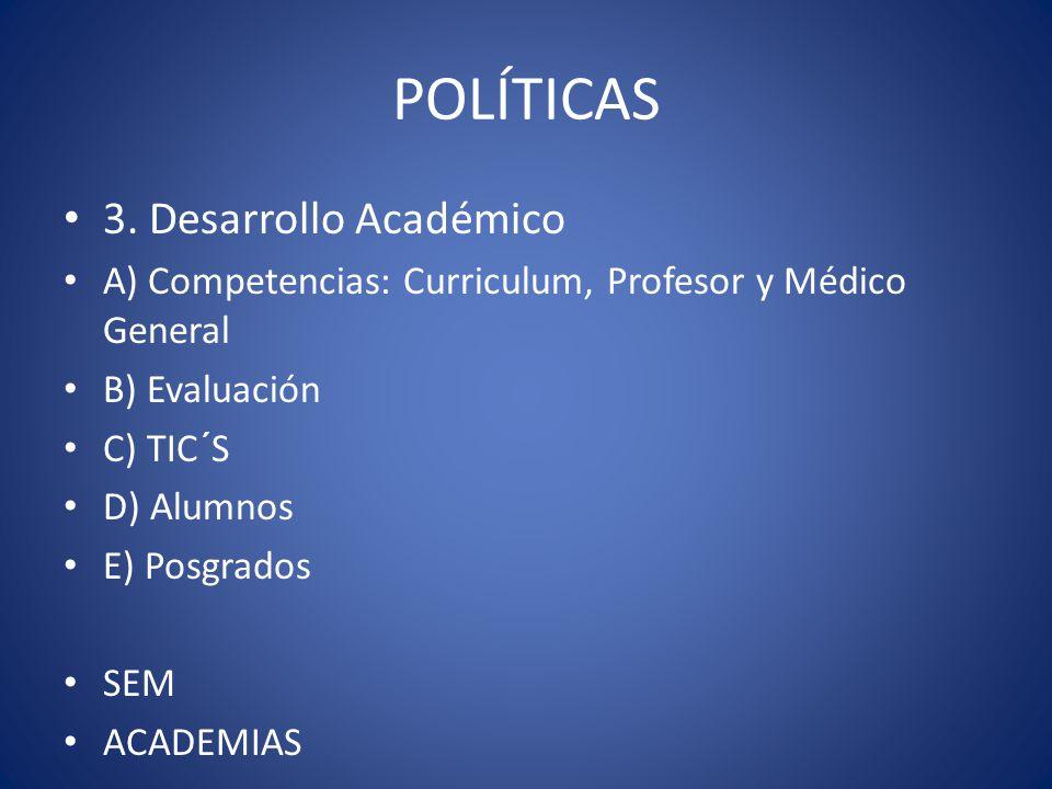 POLÍTICAS 3. Desarrollo Académico