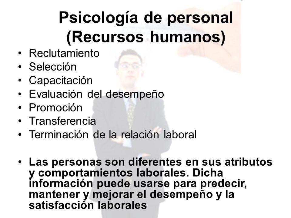 Psicología de personal (Recursos humanos)