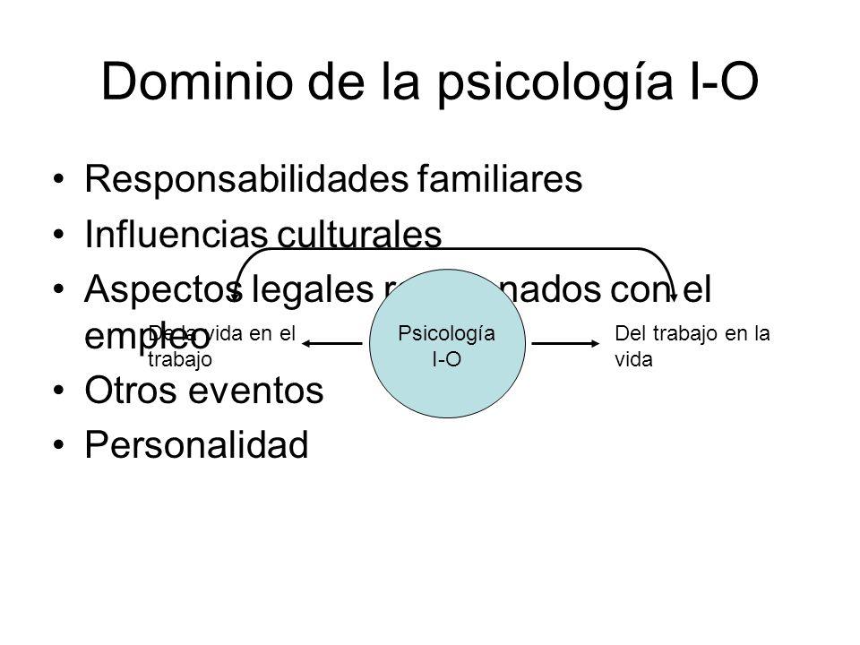 Dominio de la psicología I-O