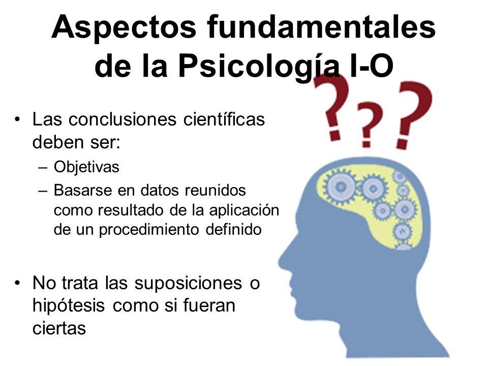 Aspectos fundamentales de la Psicología I-O