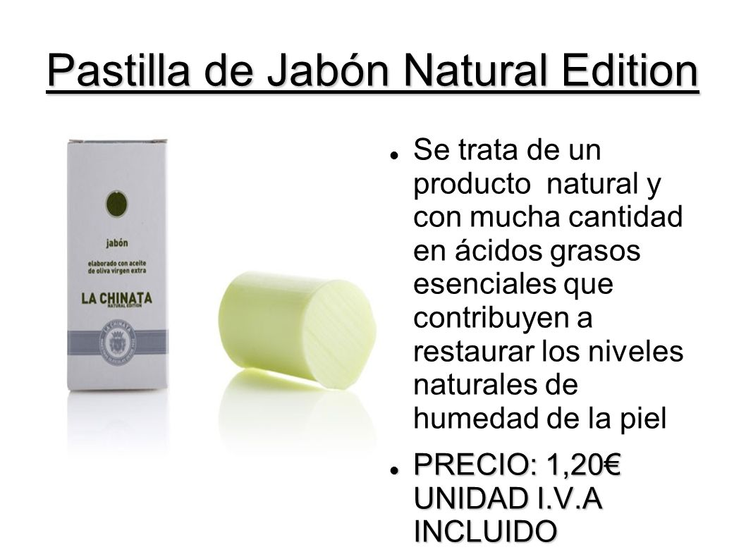 Pastilla de Jabón Natural Edition