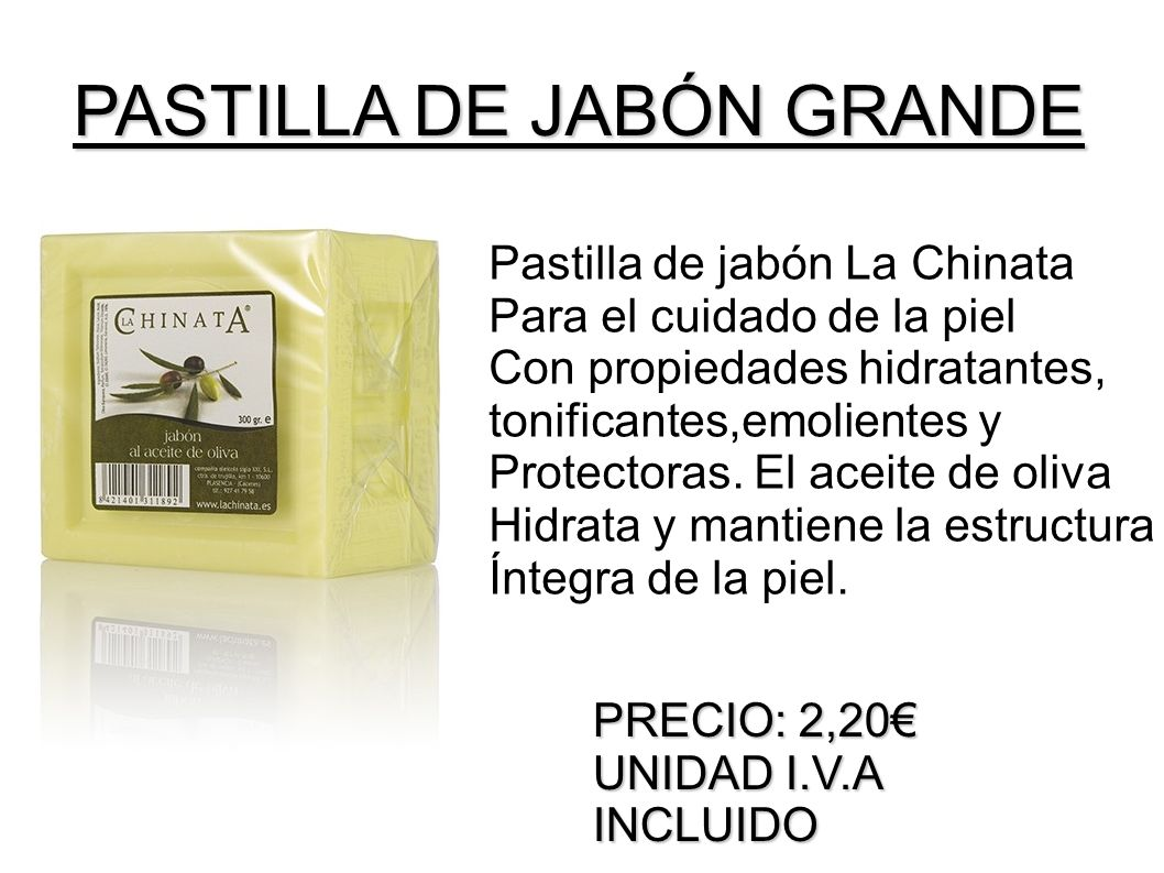 PASTILLA DE JABÓN GRANDE