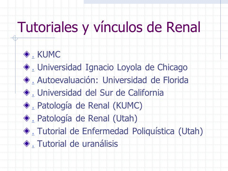 Tutoriales y vínculos de Renal
