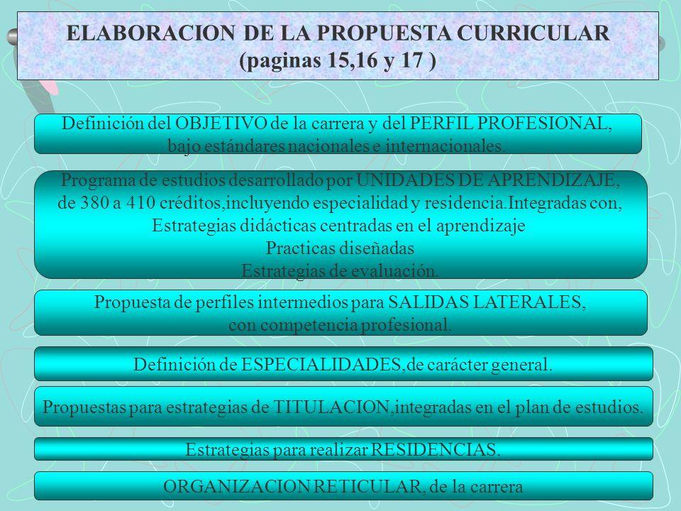 ELABORACION DE LA PROPUESTA CURRICULAR