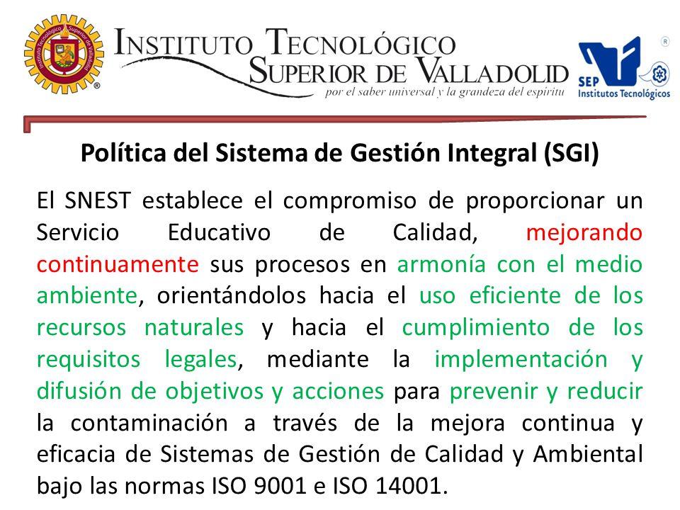 Política del Sistema de Gestión Integral (SGI)