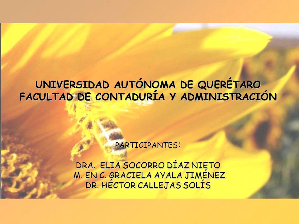 UNIVERSIDAD AUTÓNOMA DE QUERÉTARO FACULTAD DE CONTADURÍA Y ADMINISTRACIÓN