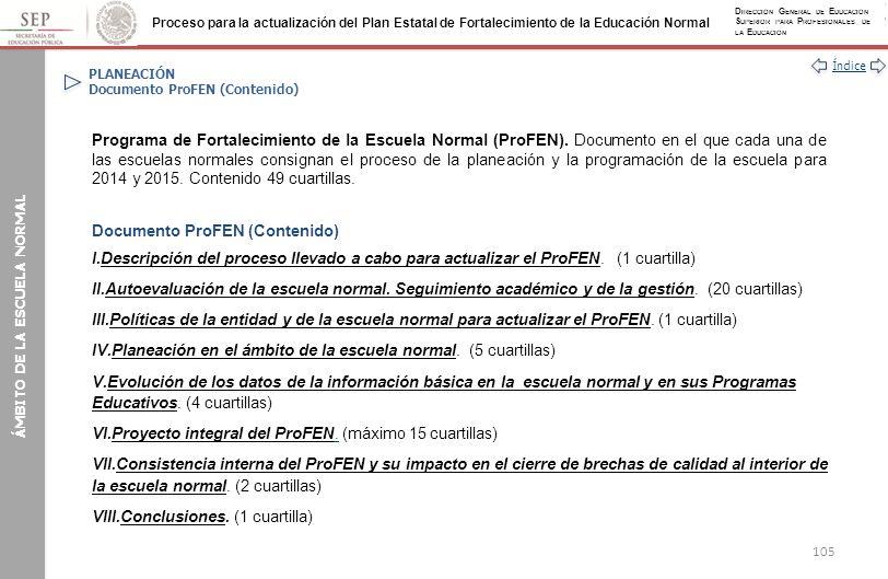 PLANEACIÓN Documento ProFEN (Contenido)