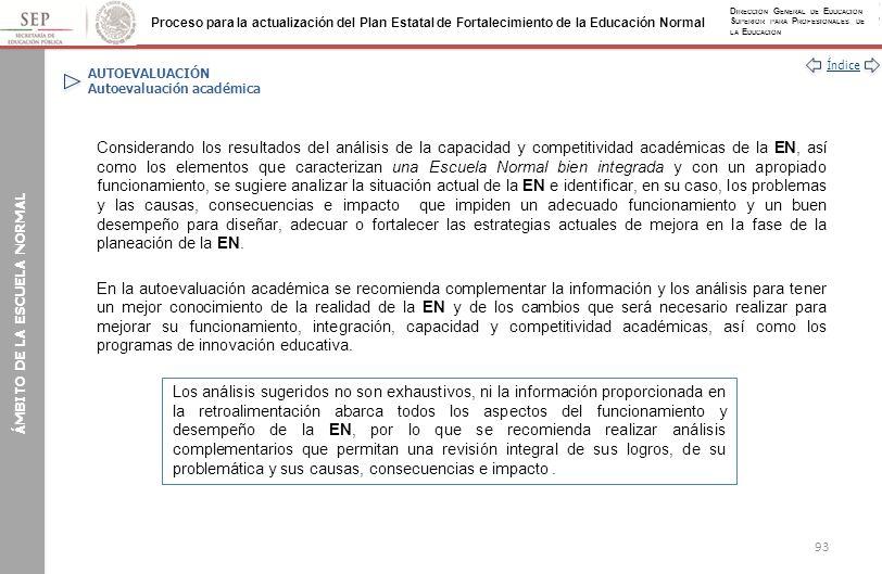 AUTOEVALUACIÓN Autoevaluación académica