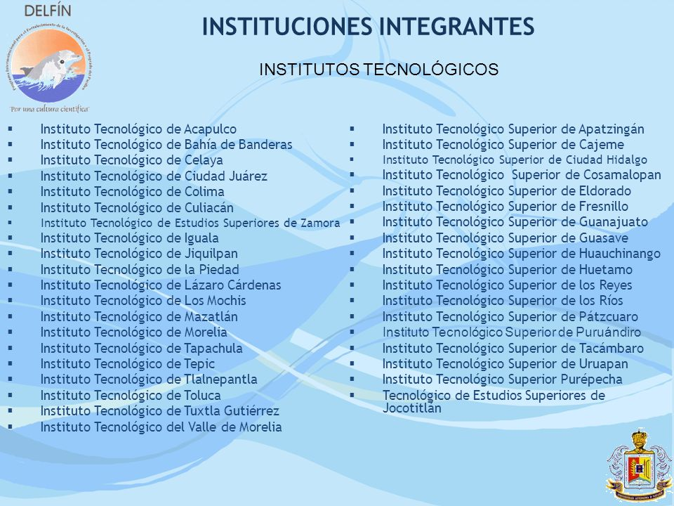 INSTITUCIONES INTEGRANTES