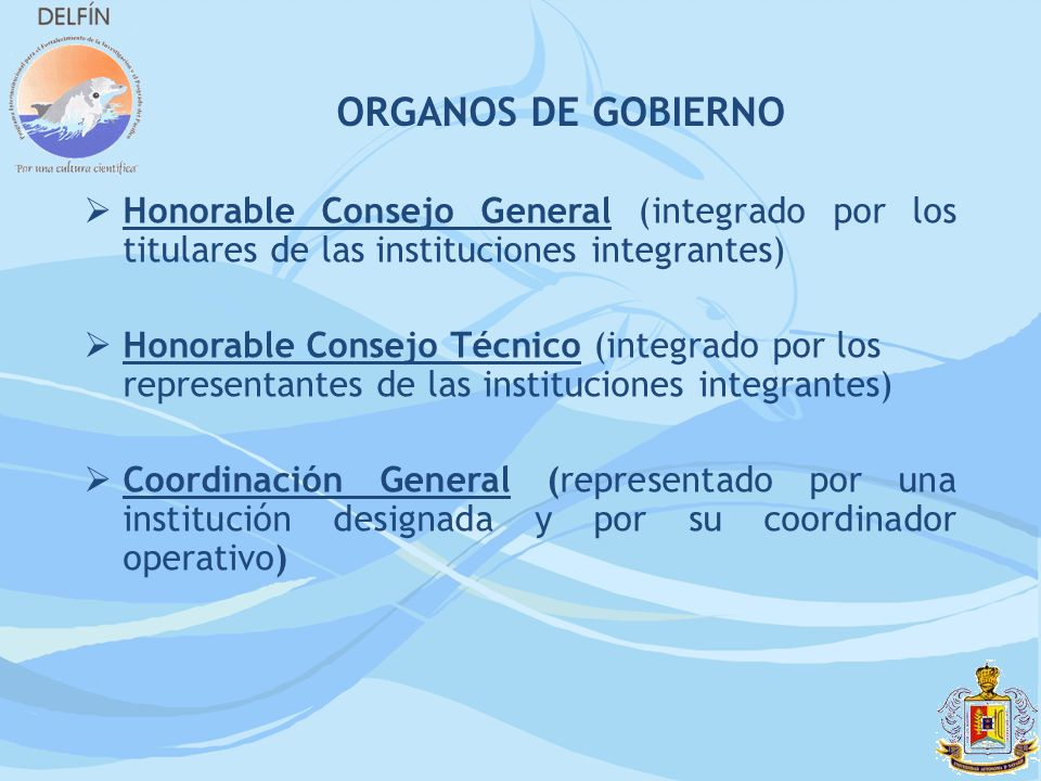 ORGANOS DE GOBIERNO Honorable Consejo General (integrado por los titulares de las instituciones integrantes)